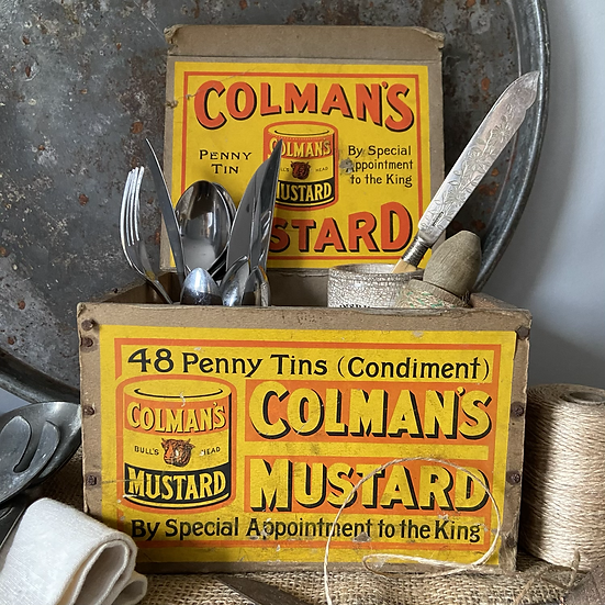 Large Vintage Coleman's Mustard Delivery Box
