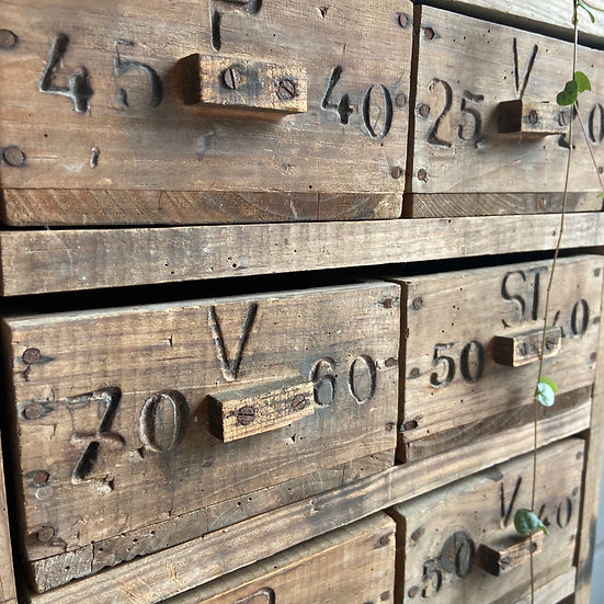 Rampantly Rustic Vintage French Shelves and Drawers