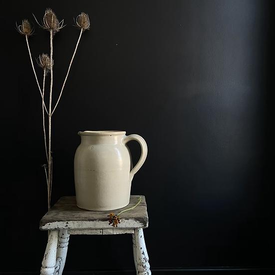 Large French Vintage Stoneware Jug