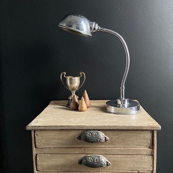 Vintage Chrome Gooseneck Lamp