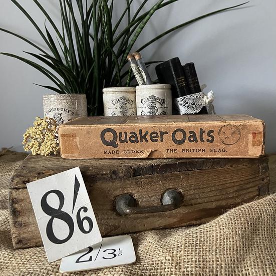 Vintage Quaker Oats Sample Postage Box