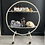 Thumbnail: Striking Glass and Metal Round Vintage Trolley