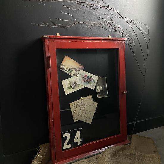Vintage  School Notice Board with Glass Door