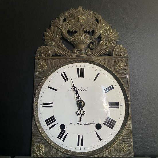 A Genuine French Enamel and Brass Clock