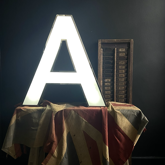 Large Illuminated Vintage Letter A