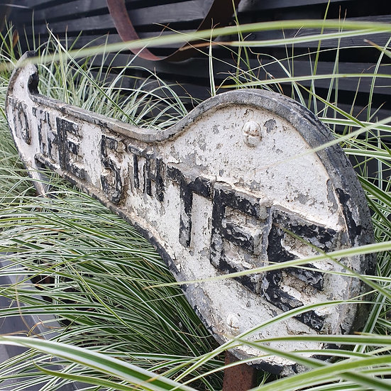 Vintage Cast Iron Golf Course 5th Tee Sign