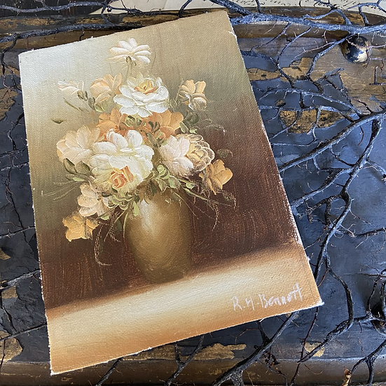 A Lovely Little Oil on Board Florals
