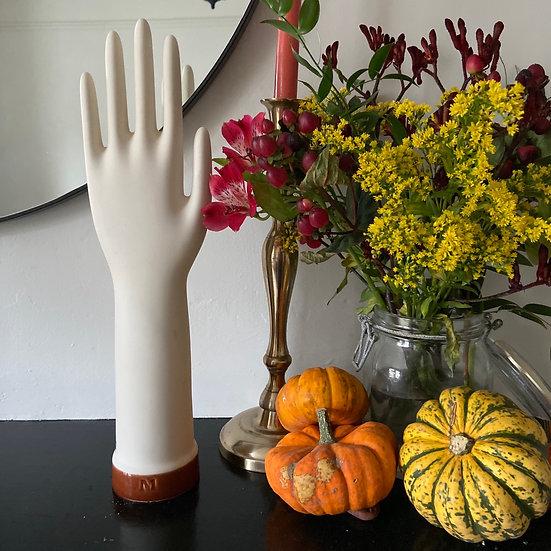 Vintage Ceramic Rubber Glove Mould (Brown)