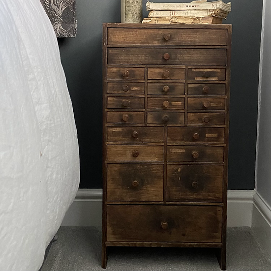 Vintage French Lamp Makers Drawers #2