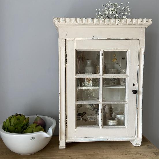Beautiful French Glazed Wall Cupboard