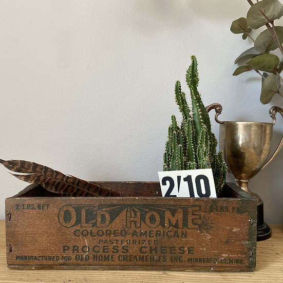 Small Vintage American Cheese Delivery Box
