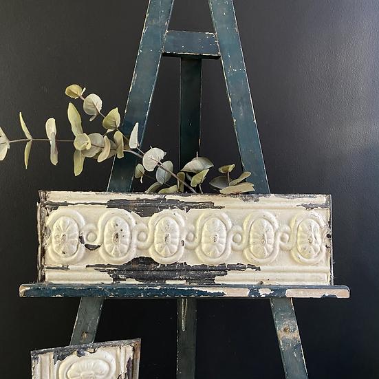 Vintage Chippy Paint Tin Tile Frieze