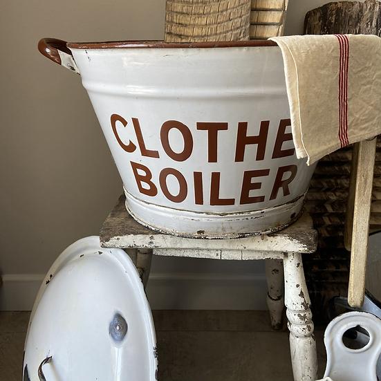 Vintage Enamel Clothes Boiler Bucket