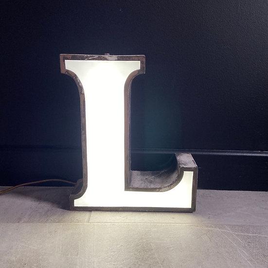 Vintage Illuminated Letter L