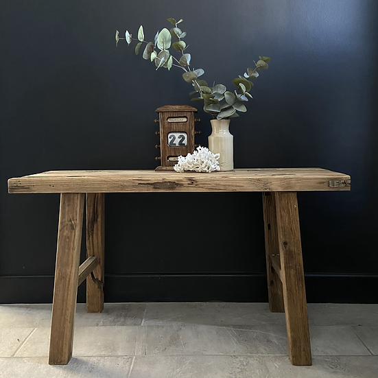 Rustic Weathered Elm Bench/Table