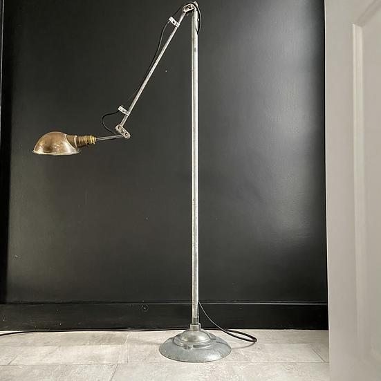 A Tall Unusual Vintage GEC Machinist Floor Lamp