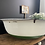Thumbnail: Vintage Large Enamel Baby Bath with Great Typography