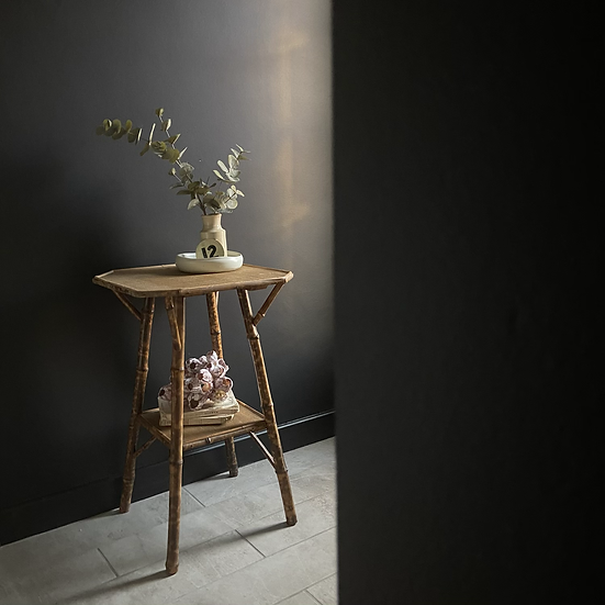 Victorian Bamboo Lamp Table