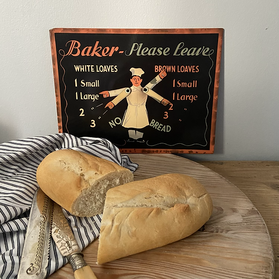 Vintage Tin Bread Delivery Sign