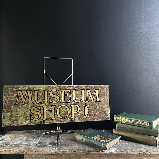Genuine Vintage Hand Painted Wooden Sign