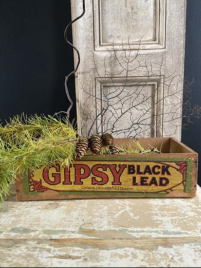 Vintage Gypsy Black Lead Delivery & Advertising Tray