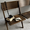 Thumbnail: Antique Oak Classic Folding Three Seat Chapel Bench