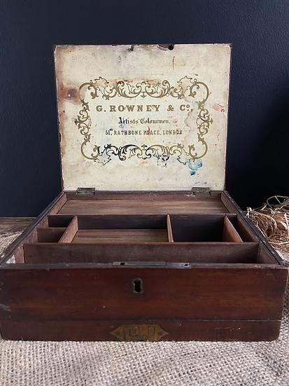 Early Victorian Mahogany Artists Water Colour Box