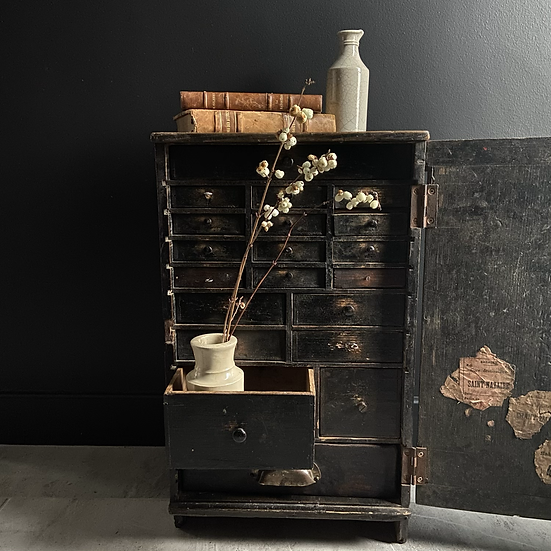 Antique French Watchmakers Drawers