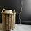 Thumbnail: Huge British Vintage Stoneware Pot in Wicker Basket