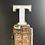 Thumbnail: Illuminated Vintage Shop Sign Letter T