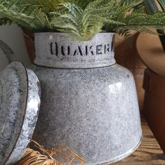 Rare Vintage Enamel Quaker Oats Cooker