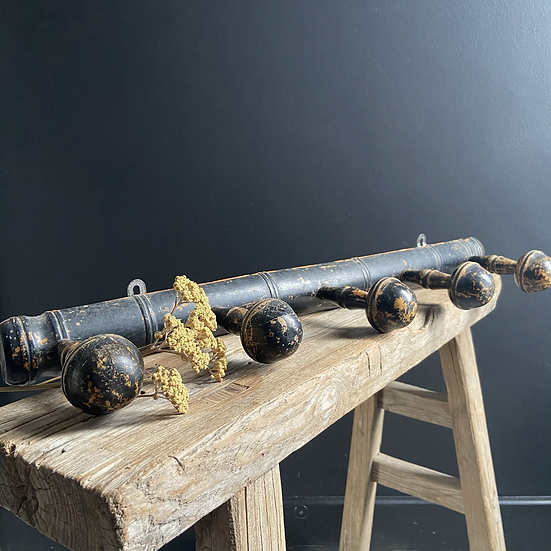 Stunning Set of 5 Wooden Coat Hooks