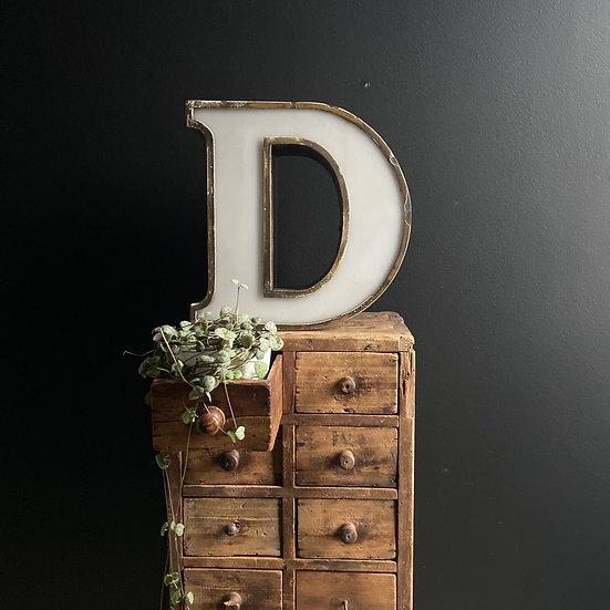 Illuminated Vintage Letter D