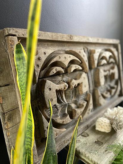 Asian Vintage Plaster Mould Lotus Flower