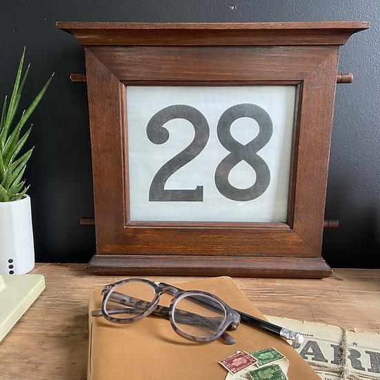 Large Antique Perpetual Calendar