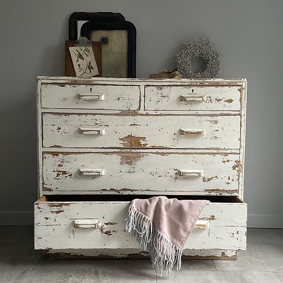 Fabulous Vintage Heavy Chest of Drawers