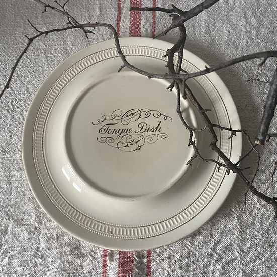 Antique Butchers Display Plate