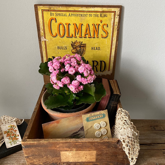 Antique Wooden Coleman's Mustard Delivery Box