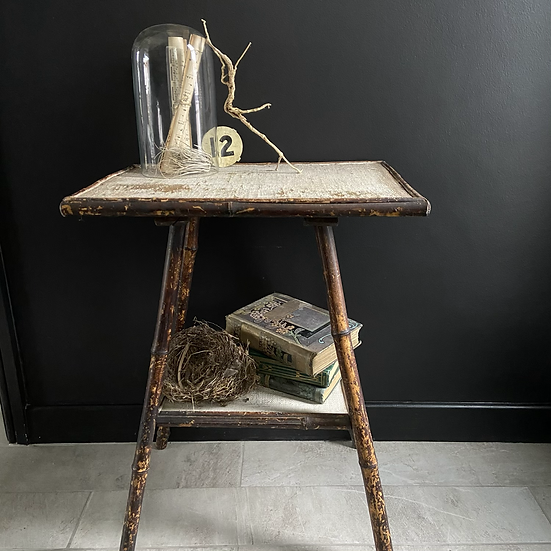 Beautiful Antique Victorian Bamboo Lamp Table