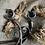 Thumbnail: Solid Brass Antique Claw Curtain Rail Brackets