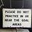 Thumbnail: Vintage Metal Monochrome Park Sign