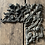 Thumbnail: Art Nouveau Ornamental Brass Repousse Corner Piece