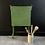 Thumbnail: Tall Square Vintage Green Metal Folding Table