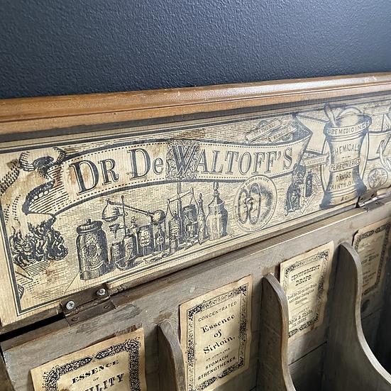 Antique Apothecary Bottle Case