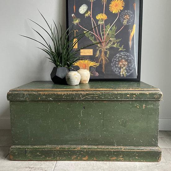 Gorgeous Green Vintage Storage Trunk