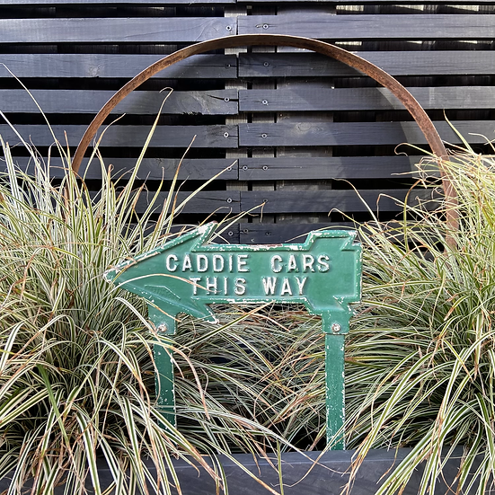 A Rare Vintage Cast Iron Golf Course Sign