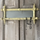 Thumbnail: Stunning Rare French Foxed Mirror and Towel Rail
