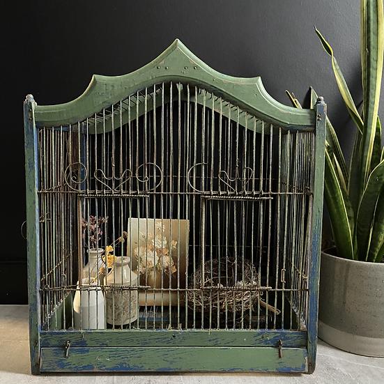 Large Vintage Bird Cage