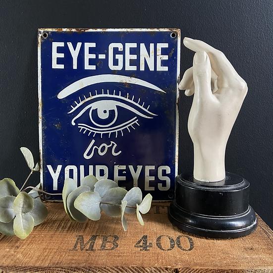 Vintage EYE - GENE Enamel Advertising Sign