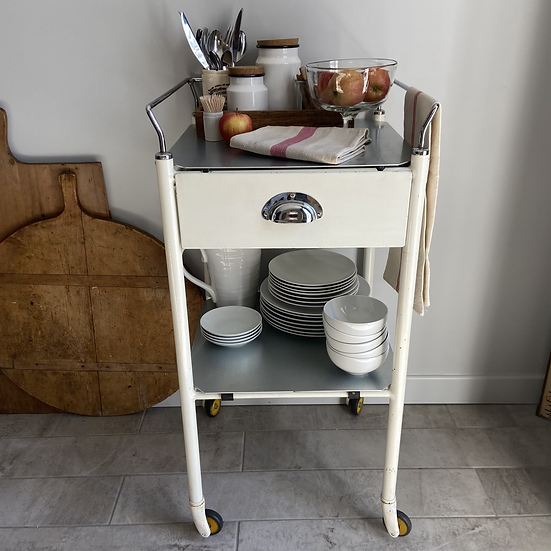1950's Medical Trolley With Drawer